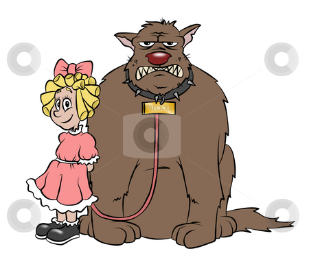 Cute Little Puppy stock photo, A cute little girl and her 'cute' puppy dog. by Jonathan Cooke
