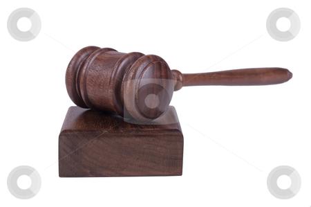 Gavel on white background stock photo, Image of a judges gavel isolated on white background by Phil Morley
