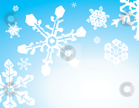 Snowstorm Background stock vector clipart, Background image of a snowstorm on a gradient. by Jeffrey Thompson