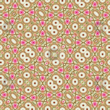 Indian ornamental pattern stock photo, Abstract seamless cloth texture in brown, beige and pink by Wino Evertz