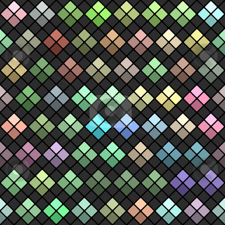 Pastel and brown blocks stock photo, Seamless chequered texture of colorful squares by Wino Evertz