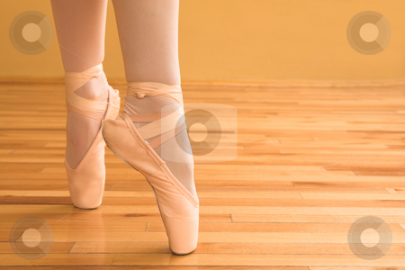 Ballerina #04 stock photo, Lady doing ballet in a studio. by Sean Nel