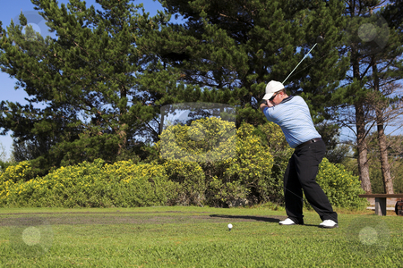 Golf #38 stock photo, Man playing golf. by Sean Nel