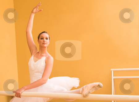 Ballerina #33 stock photo, Ballerina dancing at bar by Sean Nel