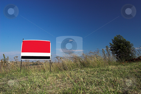 Sign #1 stock photo, Red sign against blue sky by Sean Nel