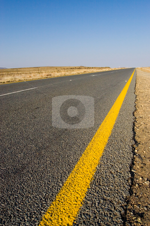 Cape roads #1 stock photo, Desolate road just outside Colesberg, South Africa by Sean Nel