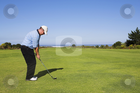 Golf #14 stock photo, Man playing golf. by Sean Nel