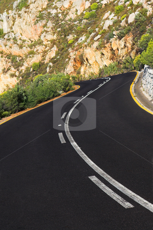 Winding road stock photo, Winding road in the western cape mountains by Sean Nel