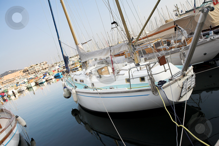 Cannes #51 stock photo, Yachts in the the harbor (Port Le Vieux) in Cannes, France. by Sean Nel