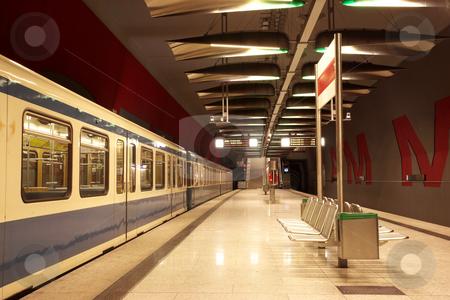 Munich #35 stock photo, Train in a underground train station by Sean Nel