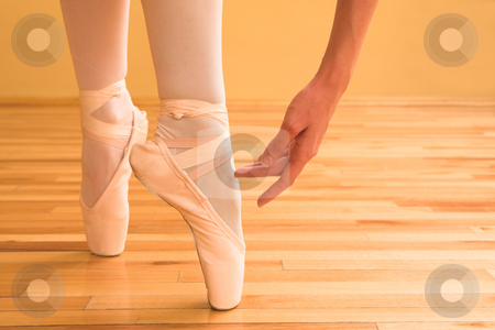 Ballerina #03 stock photo, Lady doing ballet in a studio by Sean Nel
