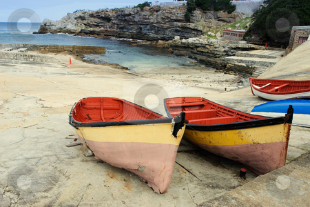 Harbour #2 stock photo, Derelict boats on Hermanus Harbour, South Africa by Sean Nel