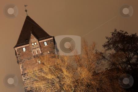 Neurenburg #67 stock photo, Church in Neurenburg at nighttime.  Copy space. by Sean Nel
