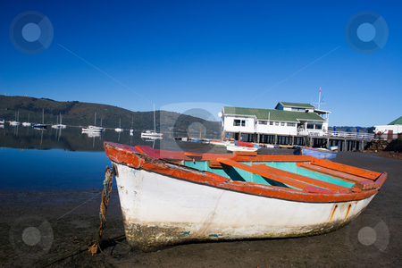 Boat #5 stock photo, Derelict boat next to the water - Knysna Harbour, South Africa by Sean Nel
