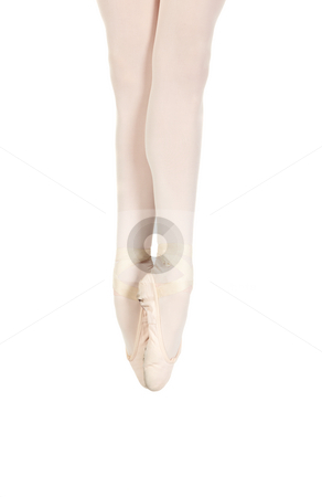 Young caucasian ballerina stock photo, Young caucasian ballerina girl on white background showing various ballet steps and positions. Not Isolated by Sean Nel