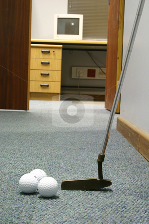 Office relaxation stock photo, Putting at the office by Sean Nel