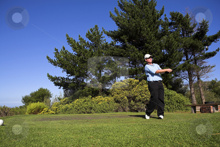 Golf #47 stock photo, Man playing golf by Sean Nel