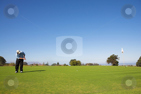 Golfer #50 stock photo, A golfer playing golf on a green by Sean Nel