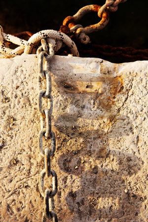 Antibes #200 stock photo, Old chains in the Harbour wall at Baie Des Anges in Antibes, France. by Sean Nel