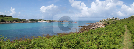 Panoramic view of St. Agnes and Gugh, Isles of Scilly. stock photo, Panoramic view of St. Agnes and Gugh, Isles of Scilly. by Stephen Rees