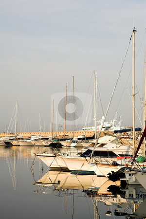 Antibes #278 stock photo, A harbor  in Antibes, France.    Copy space. by Sean Nel