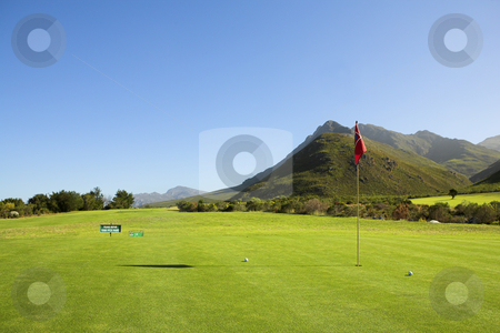 Golf #55 stock photo, A golf course. by Sean Nel