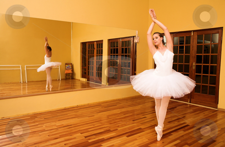 Ballerina # 08 stock photo, Lady doing ballet in a dance studio. by Sean Nel
