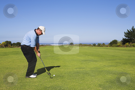 Golf #21 stock photo, Man playing golf by Sean Nel