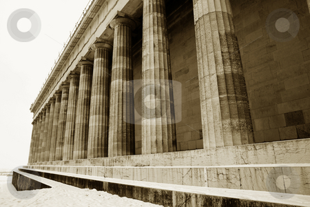 Regensburg08 stock photo, Pillars in Regensburg, sepia by Sean Nel