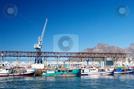 Harbour #19 stock photo, Boats at Cape Town Harbour, South Africa by Sean Nel