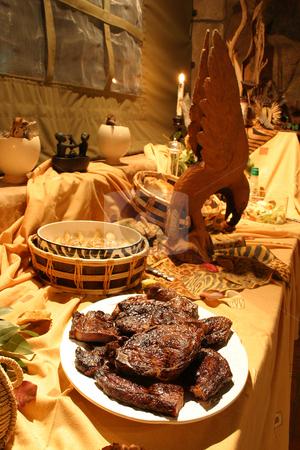 Safari Buffet stock photo, Dinnertime on safari by Sean Nel