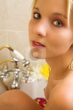 Woman #36 stock photo, Nude woman in a bath. by Sean Nel