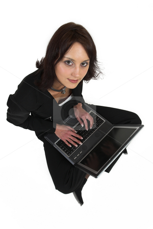 Business Lady #59 stock photo, Business woman with notebook computer by Sean Nel