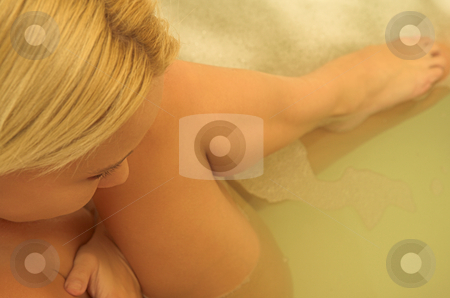 Woman #171 stock photo, Nude woman in a bath. by Sean Nel