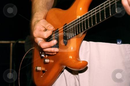 Bass guitarist stock photo, Guitarist playing Bass by Sean Nel