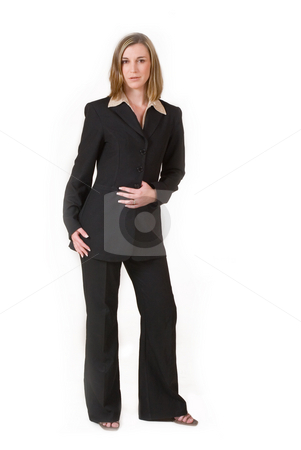 Business Lady #89 stock photo, Business woman in black and brown formal suit by Sean Nel