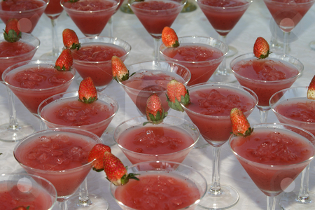 Strawberry coctails stock photo, Strawberry coctails ready to be served by Sean Nel