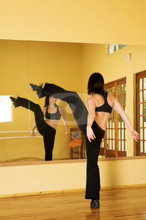 Dancer #27 stock photo, A Female Dancer practicing in her studio by Sean Nel