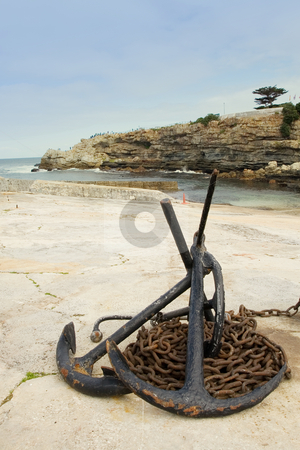 Harbour #6 stock photo, Anchors and anchor chains on Hermanus Harbour, South Africa by Sean Nel