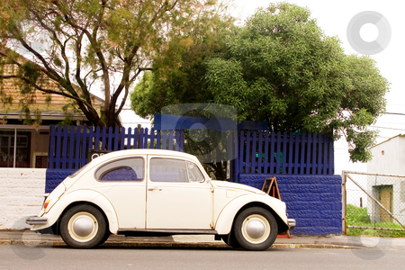Car #1 stock photo, White Volkswagen Beatle by Sean Nel