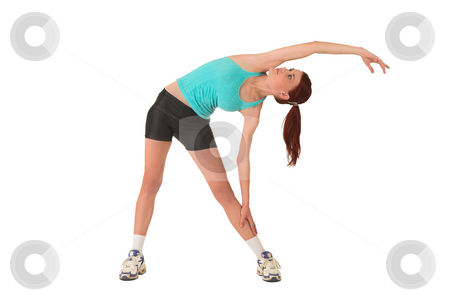 Gym #123 stock photo, Woman stretching. by Sean Nel