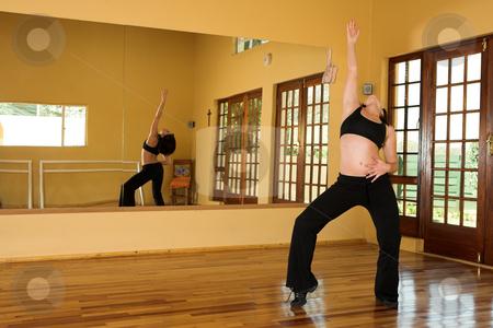 Dancer #2 stock photo, A Female Dancer practicing in her studio by Sean Nel
