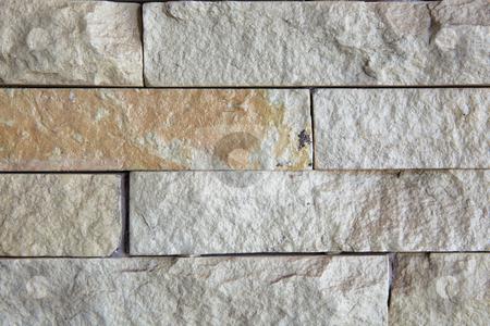 Granite wall texture stock photo, Granite wall bricks background texture by Sean Nel