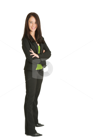 Business Woman #526 stock photo, Portrait of a brunette business woman, smiling by Sean Nel