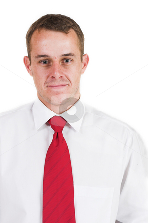 Business man #6 stock photo, Business man with a red tie by Sean Nel