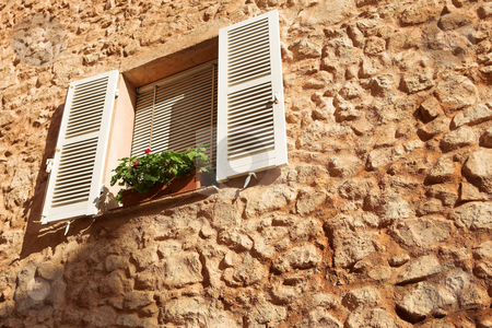 Cannes #25 stock photo, Flowers in a window sill in Cannes, France by Sean Nel