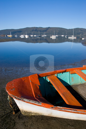 Boat #1 stock photo, Derelict boat next to the water - Knysna Harbour, South Africa by Sean Nel