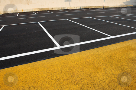 Antibes #181 stock photo, A newly painted parking lot.  Copy space. by Sean Nel