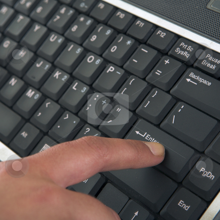 Touchtype stock photo, Hands typing on Keyboard by Sean Nel