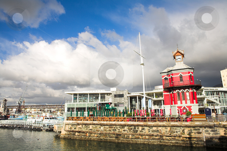 Nelson Mandela Gateway stock photo, The Nelson Mandela Gateway to Robben Island and Clocktower at the Cape town Waterfront in South Africa by Sean Nel